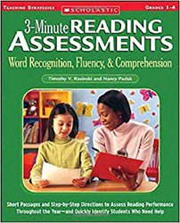 3-Minute Reading Assessments, Grades 1-4 9780439650892