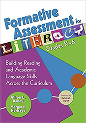 Formative Assessment for Literacy, Grades K-6 CP9088