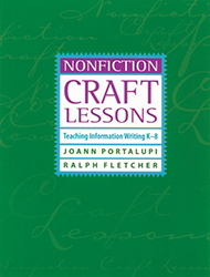Nonfiction Craft Lessons 9781571103291